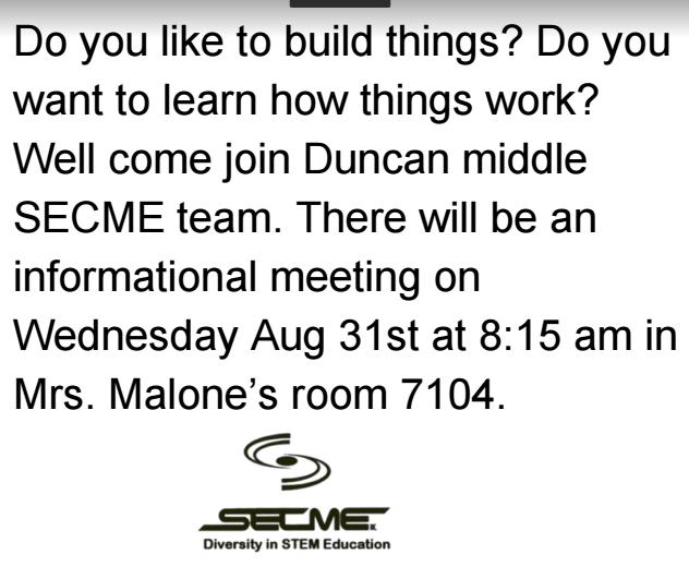 SECME meeting